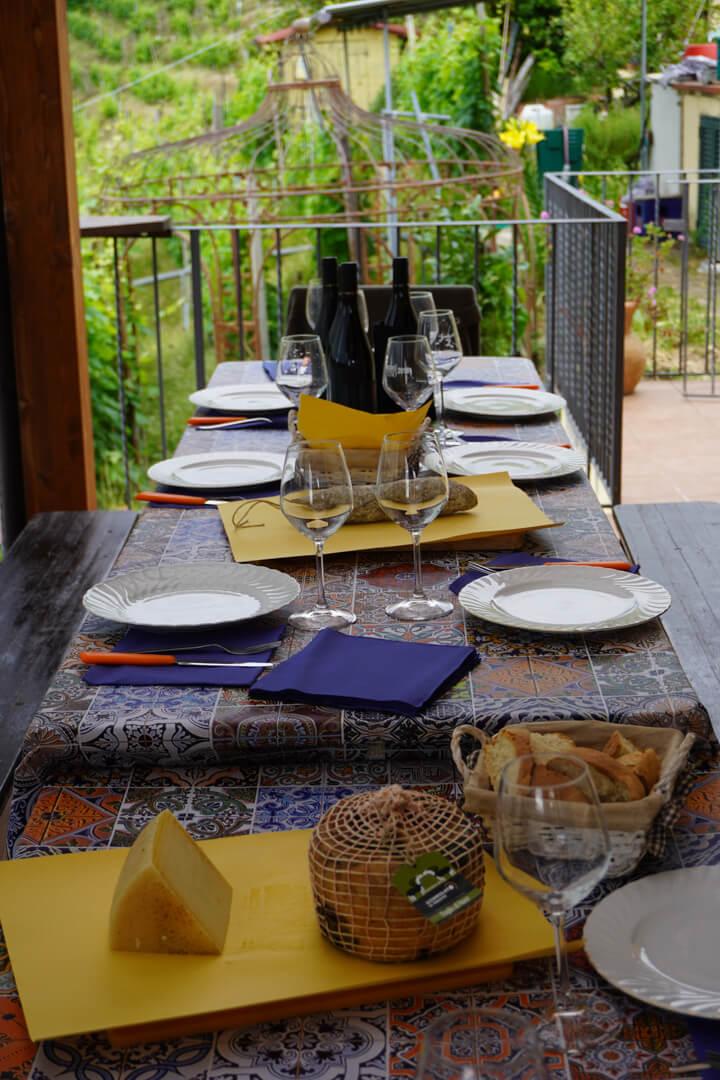 Il pranzo tra le vigne